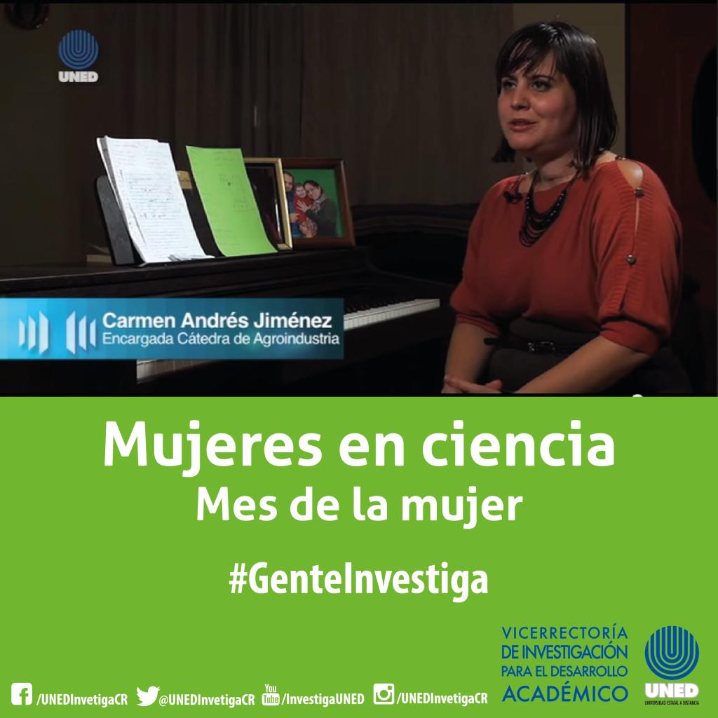 Mujer en ciencia Carmen Andres