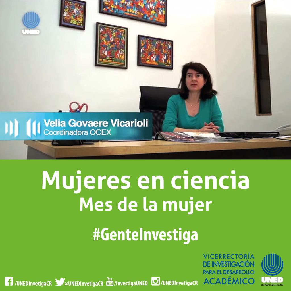 Mujer en ciencia Velia Govaere Vicarioli